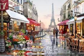 Набор для выкладки алмазной мозаикой Улочка Парижа