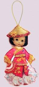 Набор для изготовления куклы из фетра для вышивки бисером Кукла. Китай