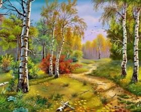 Набор для выкладки алмазной мозаикой Золотая осень, , 640.00грн., DM-038, DIAMONDMOSAIC, Пейзажи