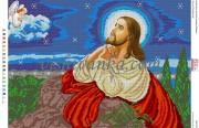 Рисунок на габардине для вышивки бисером Ісус на Оливній горі