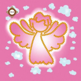 Схема-миниатюра для вышивки бисером Весенний ангел