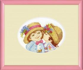 Набор для вышивки крестом Первая любовь Cristal Art ВТ-024 - 132.00грн.