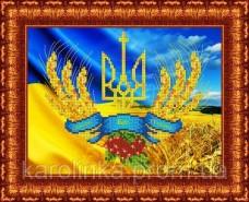 Набор для вышивки бисером Герб Украины  Каролинка КБЛН-4014