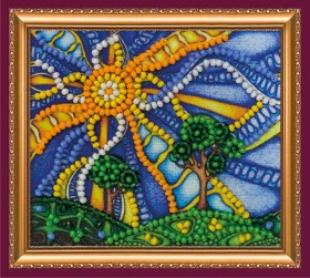 Набор для вышивки бисером магнит Животворное солнце Абрис Арт АМА-179 - 42.00грн.