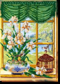 Набор для вышивки бисером За окном весна 1