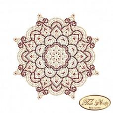Схема вышивки бисером на габардине Мандала Золото и Марсала Tela Artis (Тэла Артис) МА-005(1) ТА