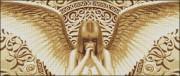 Схема вышивки бисером на габардине Молитва Ангела