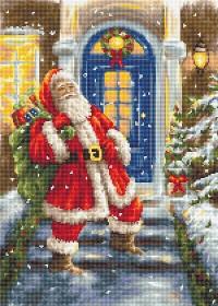 Набор для вышивки крестом Дед Мороз, , 455.00грн., B563, Luca-S, Новый год