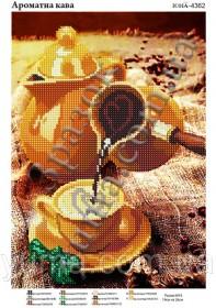 Схема вышивки бисером на атласе Ароматный кофе