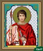 Рисунок на ткани для вышивки бисером Святой Георгий