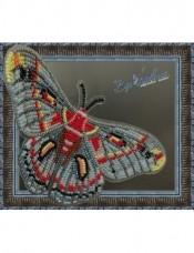 Набор для вышивки бисером на прозрачной основе Бабочка Гиалофора кекропия Вдохновение BGP-026