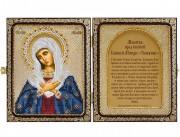 Набор для вышивки иконы бисером в рамке-складне Богородица Умиление