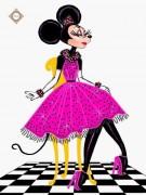 Схема для вышивки бисером на атласе Принцесса Минни