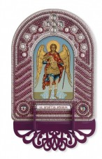 Набор для вышивки иконы с рамкой-киотом Св. Архангел Михаил Новая Слобода (Нова слобода) ВК1020