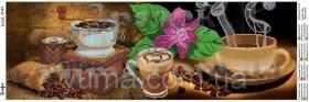 Схема вышивки бисером на атласе Панно Кофе