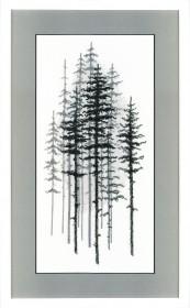 Набор для вышивки в смешанной техникой Туманный лес