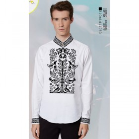 Заготовка для вышивки мужской сорочки на белом льне Biser-Art 15109 - 435.00грн.