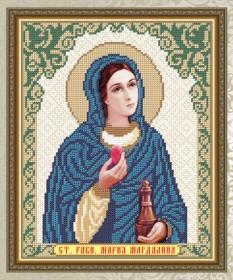 Схема для вышивки бисером на габардине Святая Равноапостольная Мария Магдалина