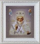 Набор для вышивки бисером Св. Николай Чудотворец (серебро)