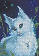 Схема вишивкі бісером на габардині Ельфійська кішка