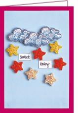 Набор - открытка 3D для вышивки бисером  Среди звезд и облаков Абрис Арт АОО-001