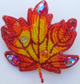 Набор для изготовления броши из бисера Осенний лист 2 А-строчка АБН-002 - 160.00грн.