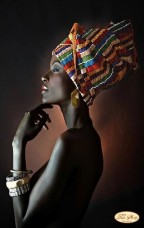 Схема для вышивки бисером на атласе Африканка Tela Artis (Тэла Артис) ТА-178