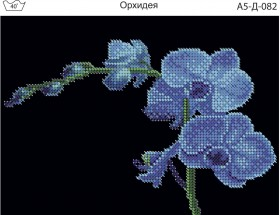 Схема для вышивки бисером на габардине Орхидея Acorns А5-Д-082 - 30.00грн.