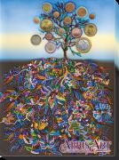 Набор для вышивки бисером на холсте Денежное дерево