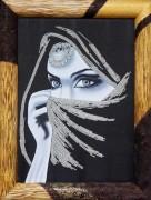 Набор для вышивки бисером на габардине Хабиби