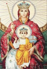 Набор для вышивки крестом Божья Матерь Державная, , 528.00грн., BR113, Luca-S, Наборы с пришивными камнями