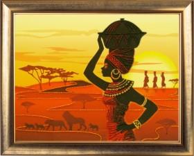 Набор для вышивки бисером Африканка