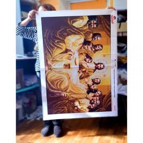 Схема вышивки бисером на габардине Тайна вечеря  Biser-Art 75х110-4502 - 500.00грн.