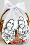 Бант для вышивки бисером Иисус