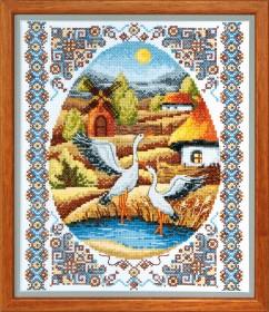 Набор для вышивки в смешанной технике На заливных лугах, , 159.00грн., ВТ-011, Cristal Art, Украина