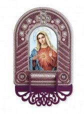 Набор для вышивки иконы с рамкой-киотом Непорочное Сердце Марии Новая Слобода (Нова слобода) ВК1025