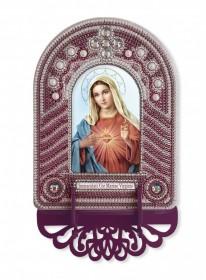 Набор для вышивки иконы с рамкой-киотом Непорочное Сердце Марии