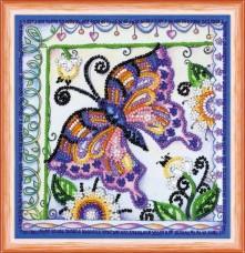 Набор для вышивки бисером Бабочка в цветах Абрис Арт Ам-144