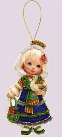 Набор для изготовления куклы из фетра для вышивки бисером Кукла. Испания