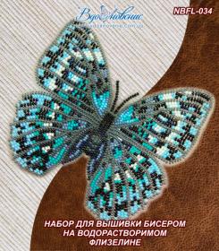 Набор для вышивки бисером Бабочка Стихофтальма годфри