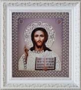 Набор для вышивки бисером Икона Христа Спасителя. Венчальная пара