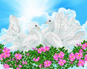 Схема  вышивки бисером на атласе Символ верной любви, , 85.00грн., АКЗ-208, А-строчка, Большие схемы вышивки бисером