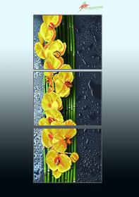 Схема для вышивки бисером на атласе Жёлтый каскад (триптих), , 225.00грн., АР3-016, А-строчка, Картины из нескольких частей