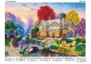 Схема вышивки бисером на атласе Осенний дворик