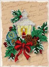 Набор для вышивки ювелирным бисером Рождественские истории 6 Краса и творчiсть 61114