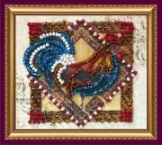 Набор - магнит для вышивки бисером Величавый петух