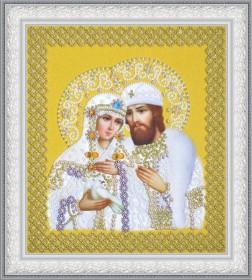 Набор для вышивки бисером Святые Петр и Феврония (жемчуг) золото Картины бисером Р-389 - 530.00грн.