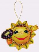 Набор для изготовления игрушки из фетра для вышивки бисером Солнышко