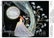 Схема вышивки бисером на атласе Разговор с луной