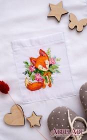Набор для вышивки крестом на одежде Букетик